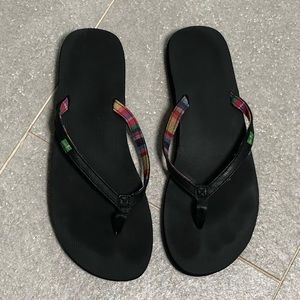 Sanuk YOGA JOY Black Flip Flop Sandals